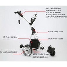 Electric Golf trolley New Jetrunner De Luxe - With Lithium Battery
